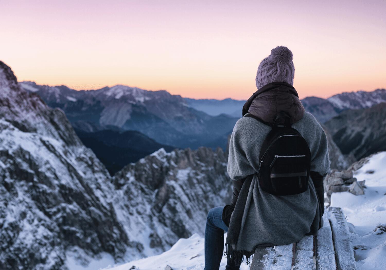 Women hiking solo
