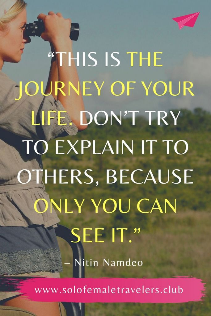"""""""This is the journey of your life. Don't try to explain it to others, because only you can see it."""" – Nitin Namdeo"""