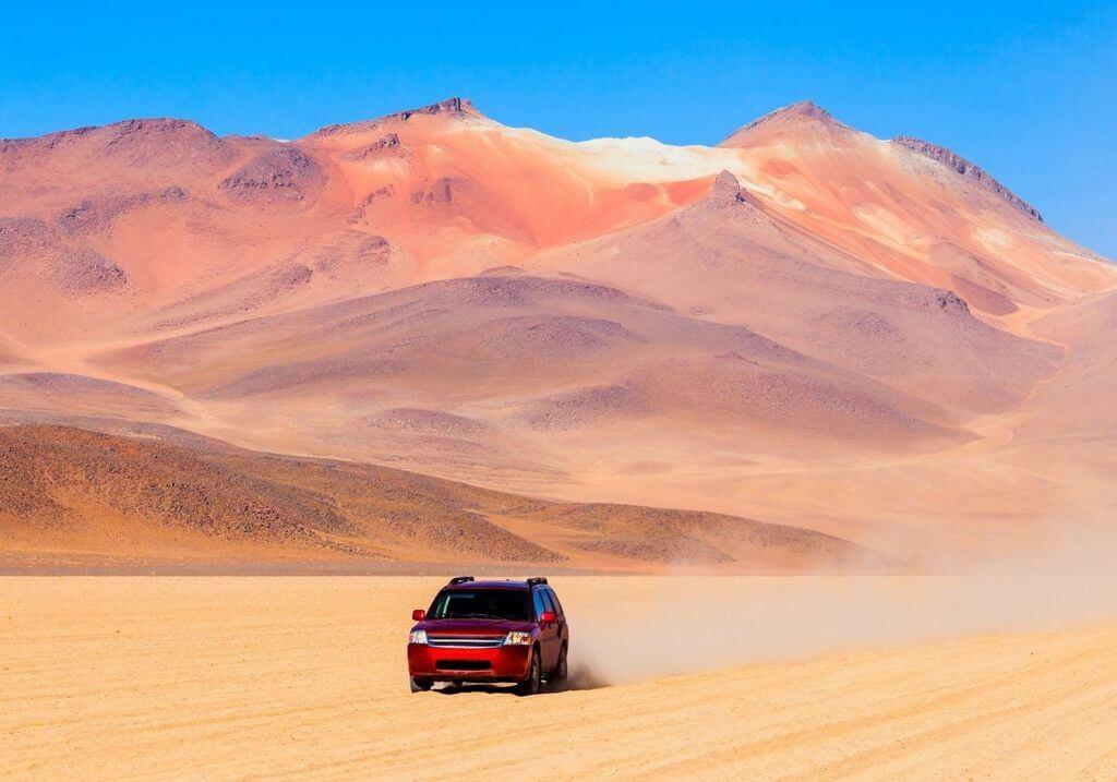 Car driving desert RF