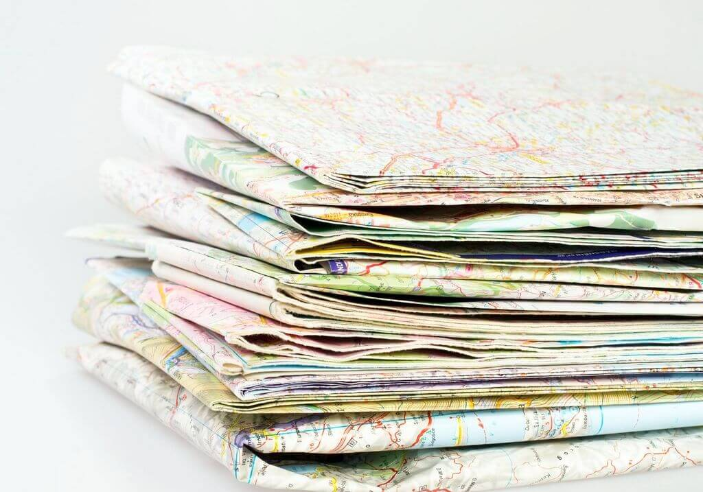 Paper road trip map RF