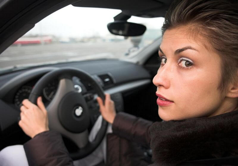 Woman driving road trip RF