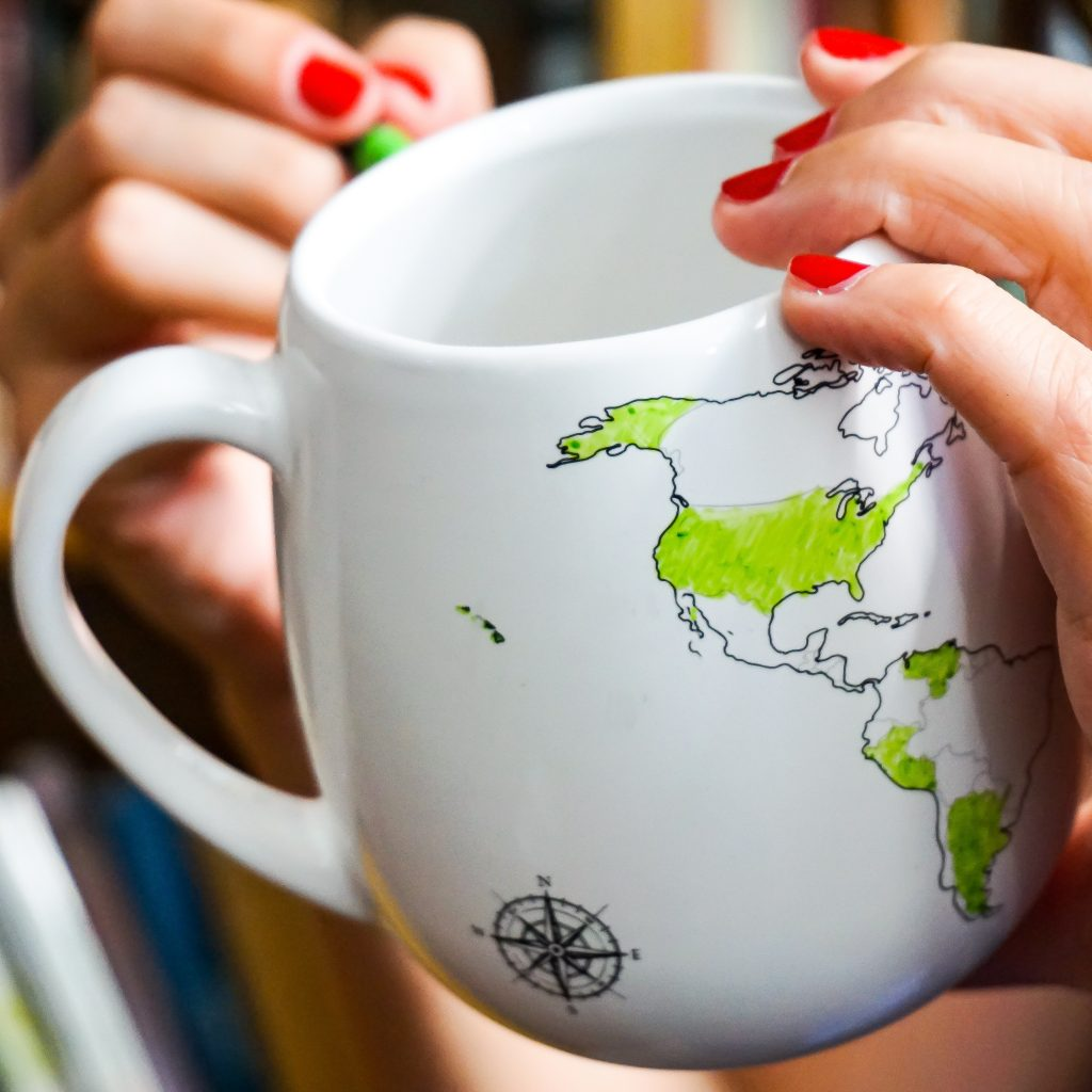 Trouvaille Global World Mug lifestyle