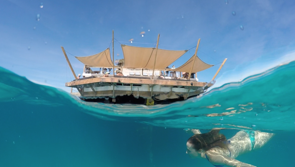 Underwater Overwater shot using a GoPro Dome