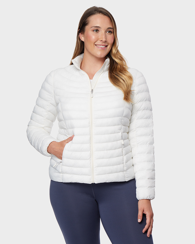 Womens packing jacket in white